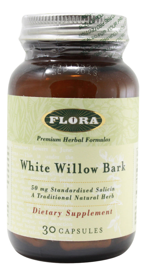 White Willow Bark - 30 Capsules Front