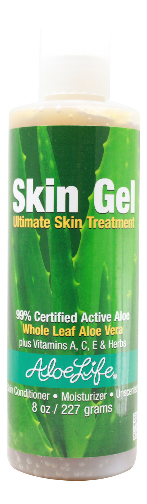 Aloe Skin Gel - 8 oz Front
