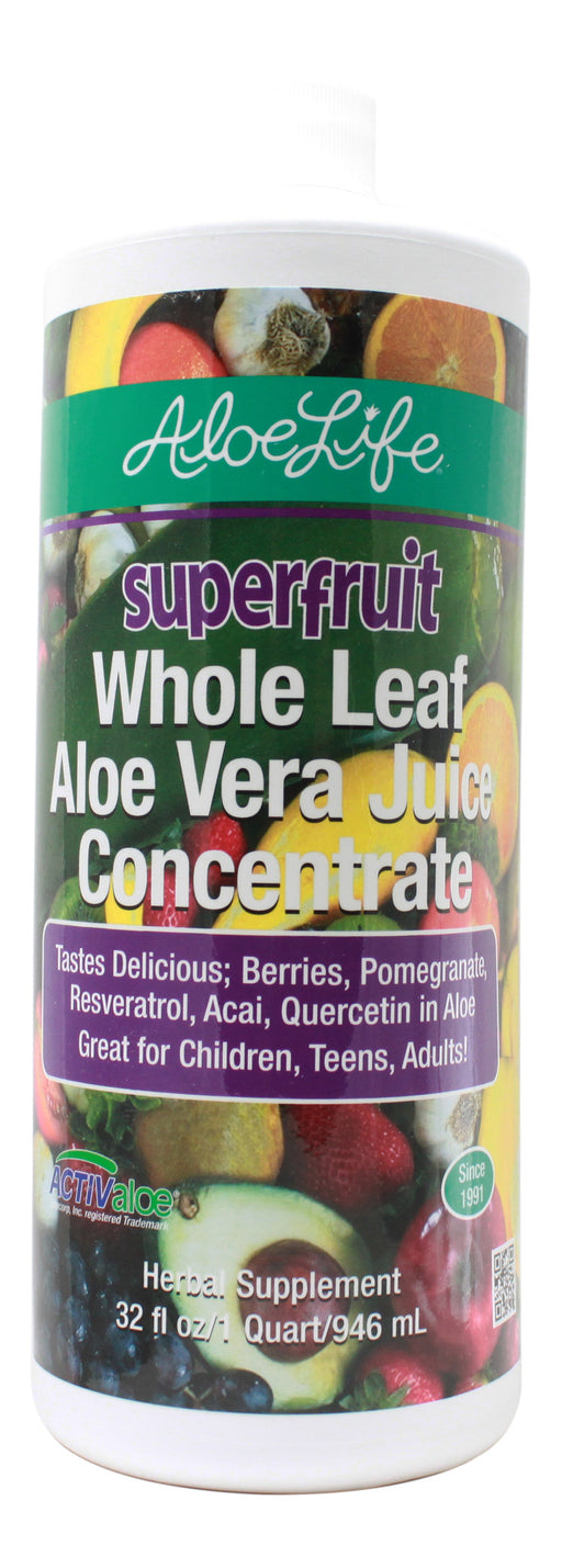 SuperFruit Aloe Vera Juice Concentrate - 32 oz Liquid Front