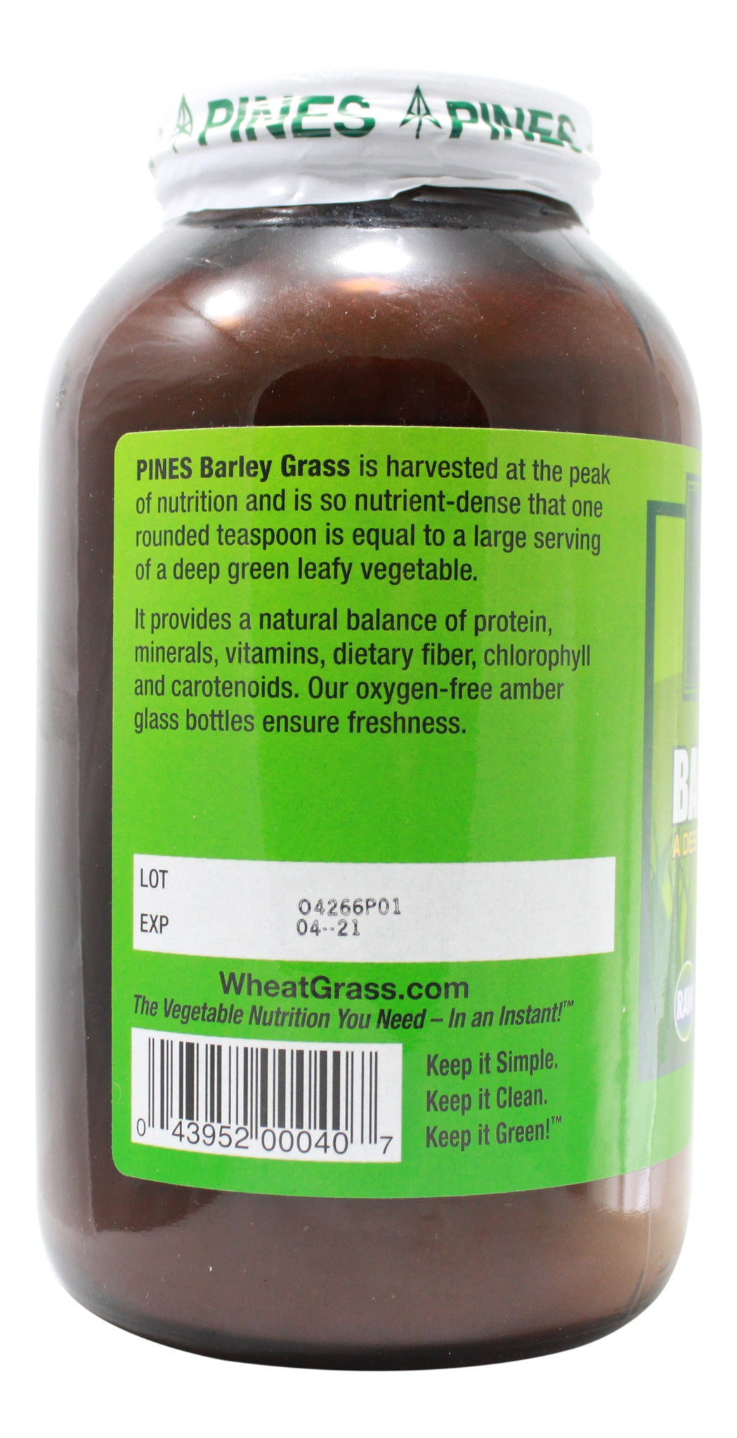 Barley Grass - 24 oz Powder Side 1