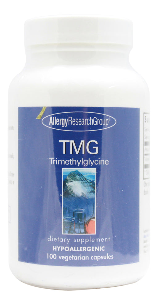 TMG (Trimethylglycine) 750 mg - 100 Capsules Front