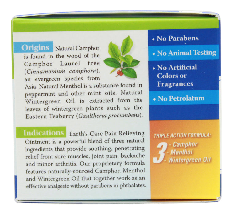 Pain Relieving Ointment - 2.5 oz Jar Side 1