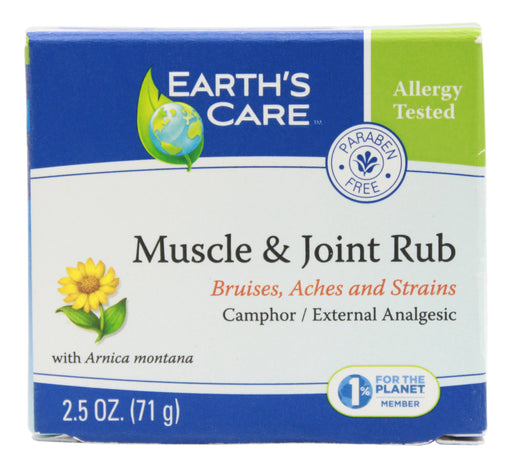 Muscle & Joint Rub - 2.5 oz Cream Front