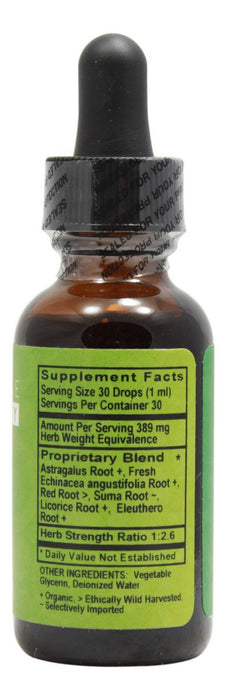 Immuno-Tonic Alcohol Free - 1 oz Liquid - Supplement Facts