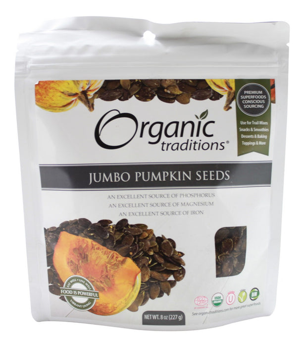 Jumbo Pumpkin Seeds - 8 oz - Front