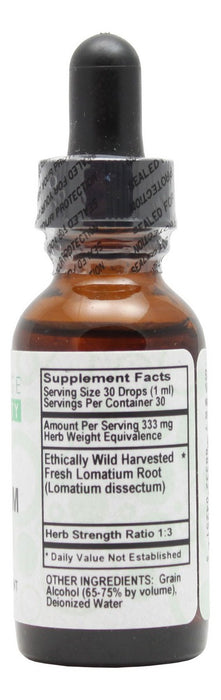 Lomatium - 1 oz Liquid - Supplement Facts