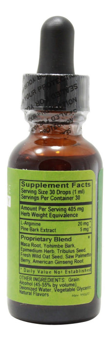 Male Virility - 1 oz Liquid - Supplement Facts