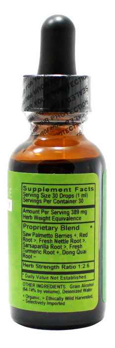 Men's Silver-  1 oz Liquid - Supplement Facts