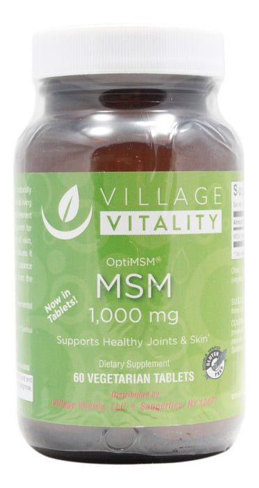 MSM 1,000 mg (OptiMSM) - 60 Tablets - Front