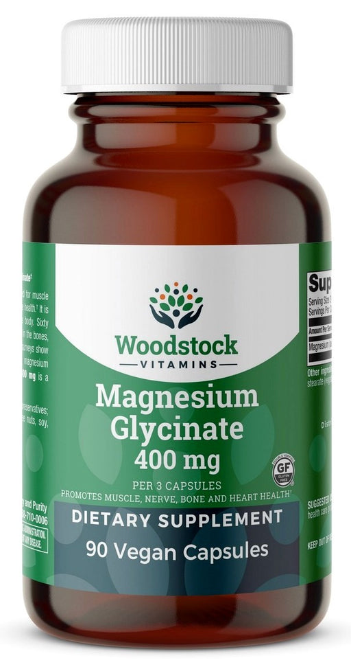 Magnesium Glycinate 400 mg - 90 Capsules