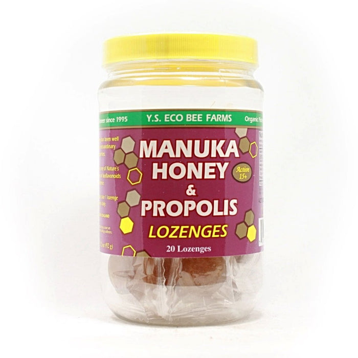 Manuka Honey & Propolis Lozenges - Active 15+ (Jar) - 20 Lozenge