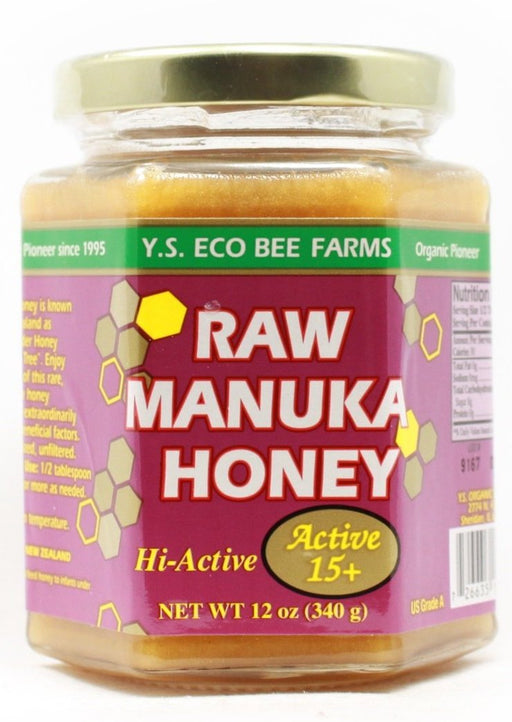Raw Manuka Honey (Active 15+) - 12 oz Jar