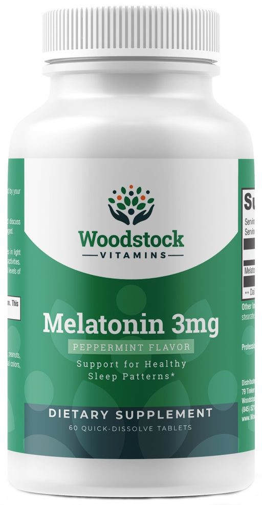 Melatonin 3 mg Quick Dissolve - 60 Tablets