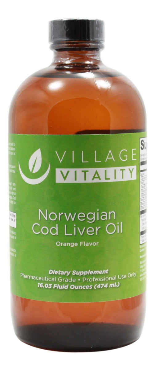 Norwegian Cod Liver Oil Orange Flavor - 16.03 oz - Front