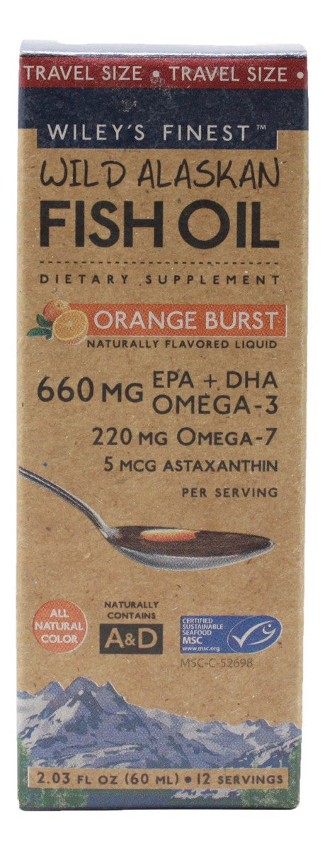 Orange Burst Liquid Fish Oil - 2.03 oz - Front