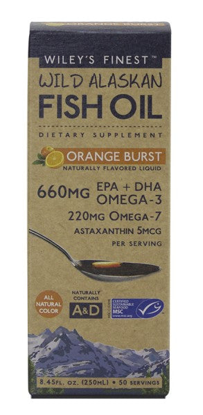 Orange Burst Liquid Fish Oil - 8.45 oz - Front