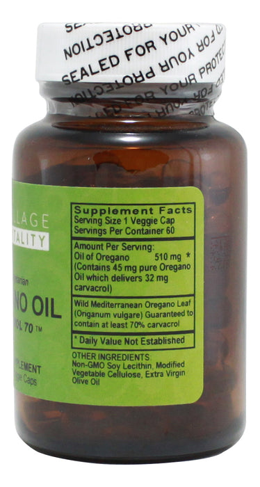 Oregano Oil - 60 Capsules - Supplement Facts