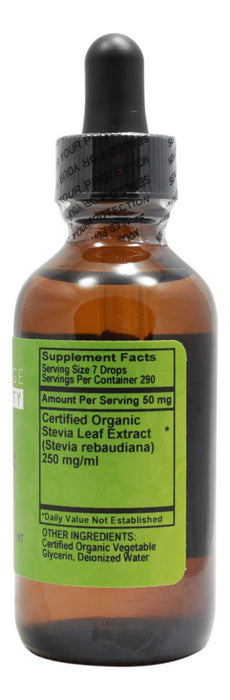 Organic Stevia - 2 oz - Supplement Facts
