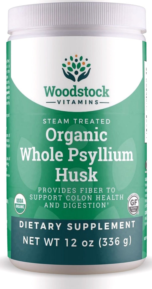 Organic Whole Psyllium Husk Powder - 12 oz