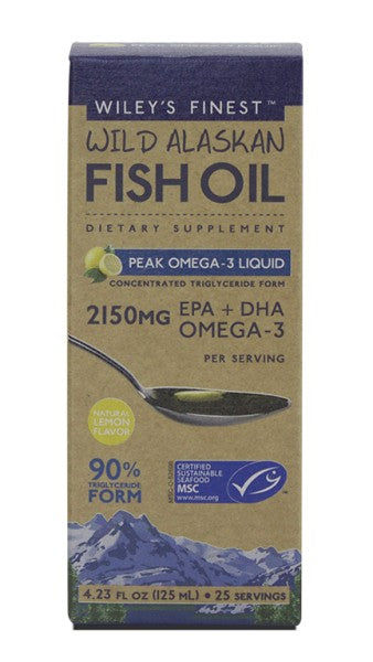 Peak Omega-3 Liquid - 4.23 oz - Front