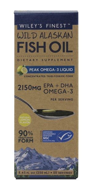 Peak Omega-3 Liquid - 8 oz - Front