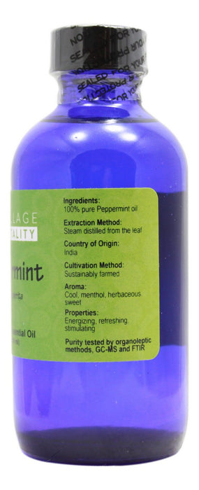 Peppermint Essential Oil - 4 oz - Supplement Facts