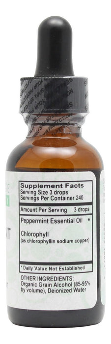 Peppermint Spirits in Organic Alcohol - 1 oz Liquid - Supplement Facts