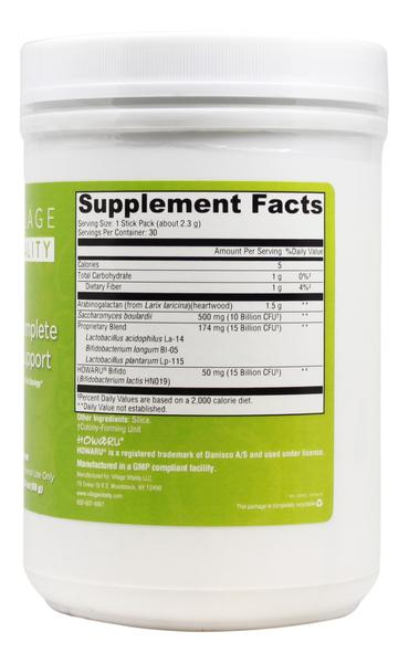 Probiotic Complete Intensive Support - 30 Packs - Supplement Facts