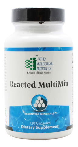Reacted Multimin - 120 Capsules - Front