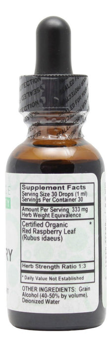 Red Raspberry - 1 oz Liquid - Supplement Facts