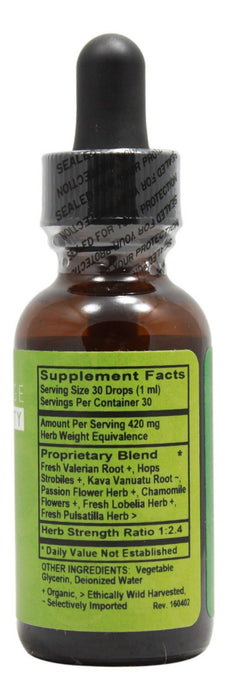 Relax Alcohol Free - 1 oz Liquid - Supplement Facts