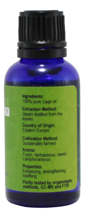Sage Essential Oil - 1 oz - Supplement Facts