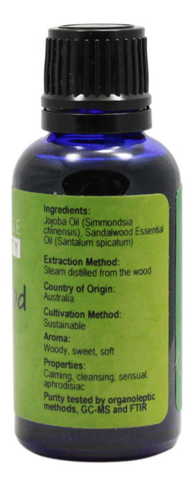 Sandalwood Essential Oil - 1 oz - Supplement Facts