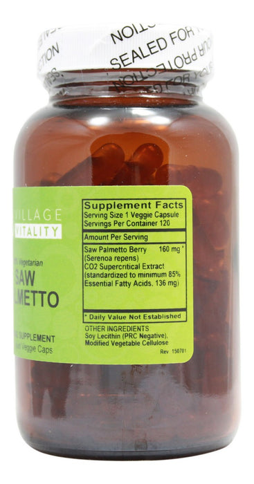 Saw Palmetto - 120 Capsules - Supplement Facts