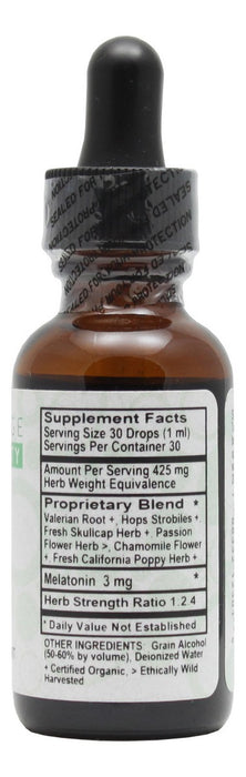 Sleep (with Valerian & Melatonin) - 1 oz Liquid - Supplement Facts