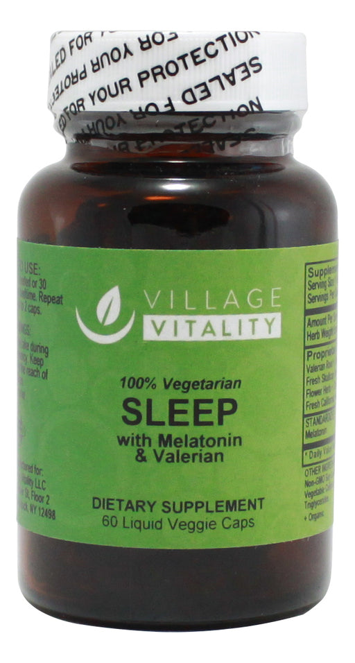 Sleep (with Valerian & Melatonin) - 60 Capsules - Front