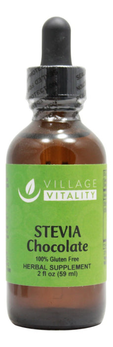 Stevia Chocolate Flavor - 2 oz Liquid - Front
