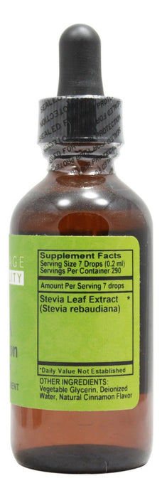 Stevia Chocolate Flavor - 2 oz Liquid - Supplement Facts