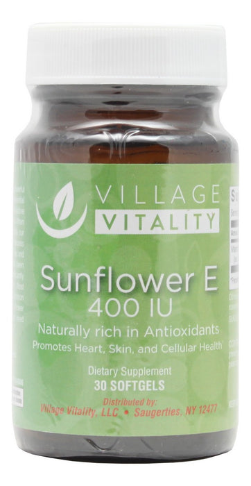 Sunflower E 400 IU - 30 Softgels - Front