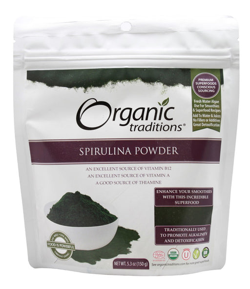 Spirulina Powder - 5.3 oz - Front