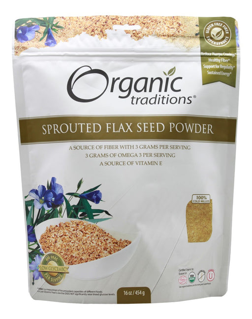 Sprouted Flax Seed Powder - 16 oz - Front