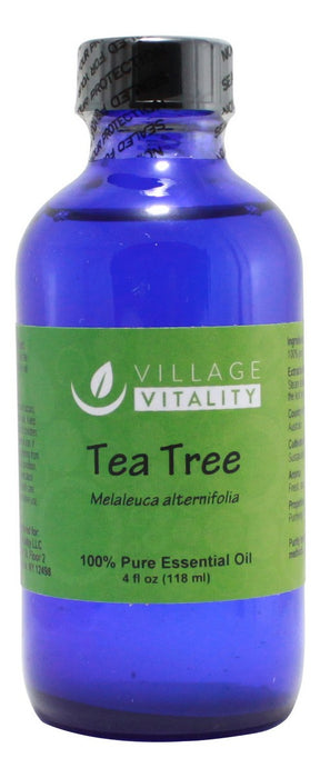 Tea Tree Essential Oil - 4 oz Liquid - Front