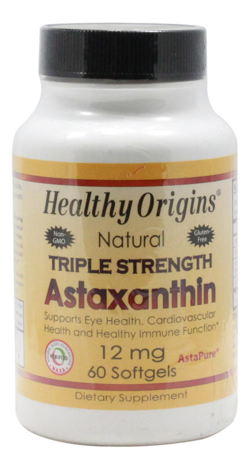 Triple Strength Astaxanthin - 60 Softgels - Front