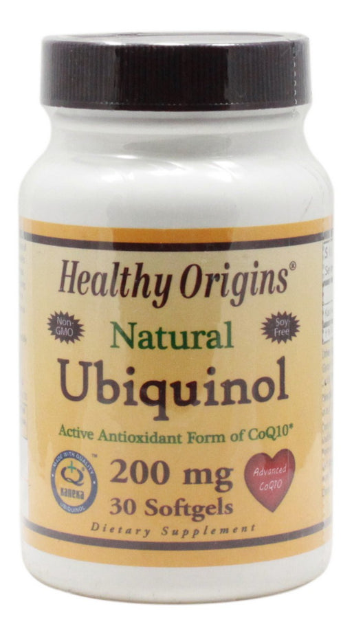 Ubiquinol 200 mg - 30 Softgels - Front