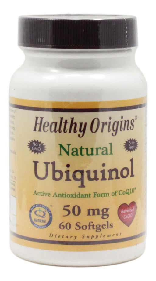 Ubiquinol 50 mg - 60 Softgels - Front