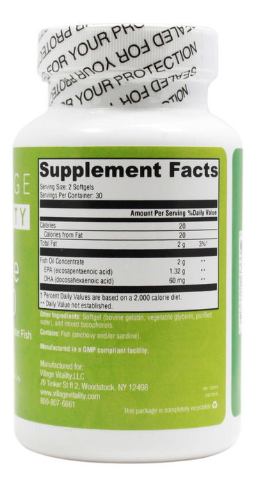 Ultra Pure EPA 660- 60 Softgels - Supplement Facts