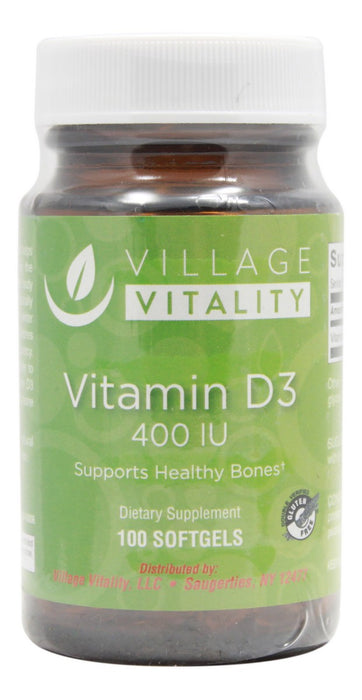 Vitamin D3 400 I.U. - 100 Softgels - Front