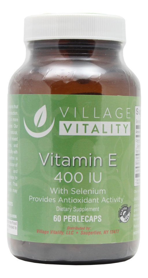 Vitamin E 400 I.U. with Selenium Perlecaps - 60 Softgels - Front
