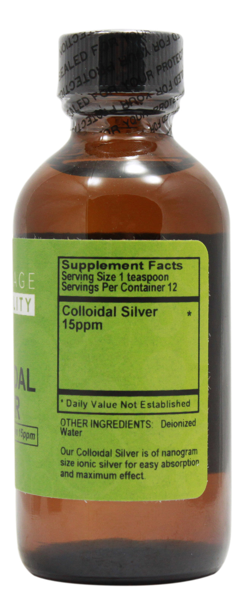Collodial Silver - 2 fl oz Supplement Facts