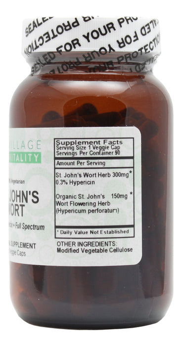 Village Vitality St. John's Wort - 90 Capsules Supplement Facts